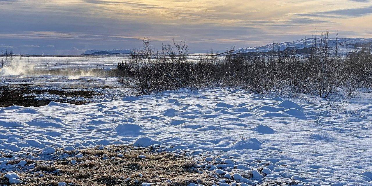 Haukadalur en invierno