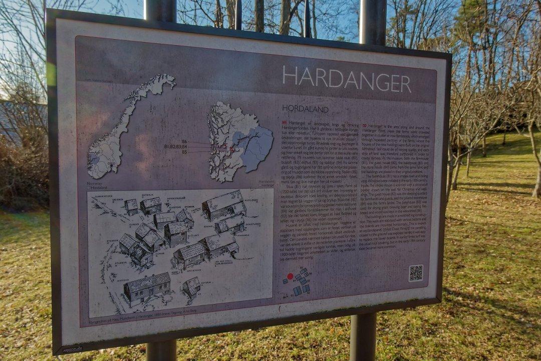 Cartel del área de Hardanger