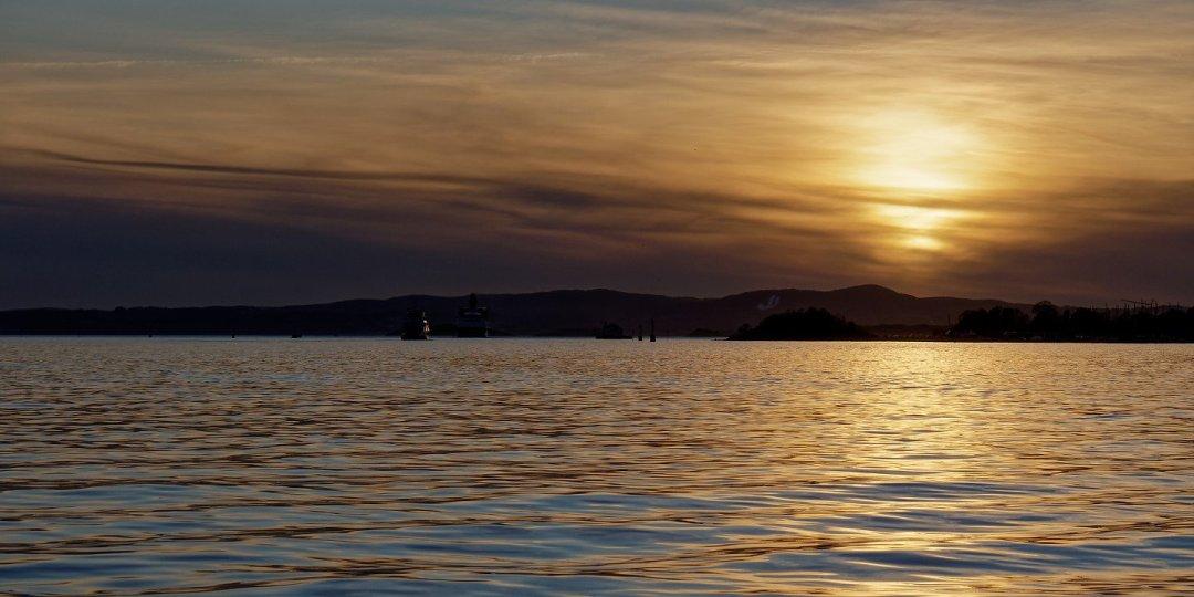Atardecer en el fiordo de Oslo