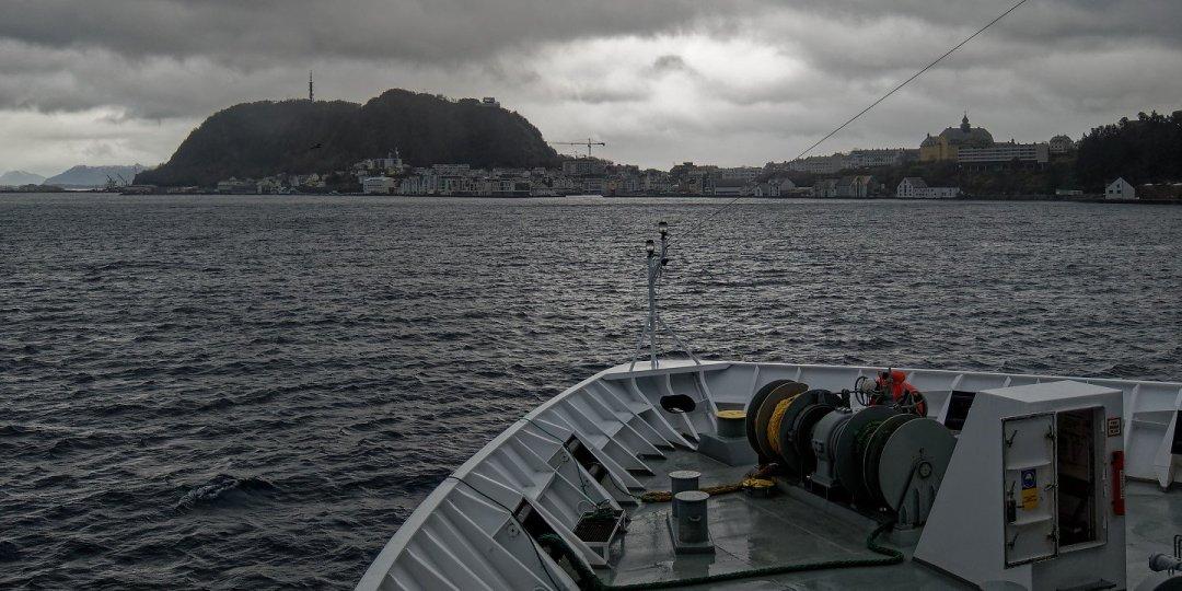 Llegando a Ålesund