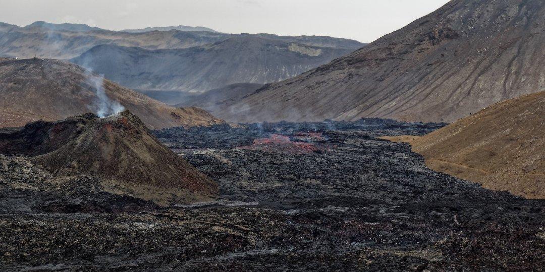 El río de lava desde Fagradalsfjall