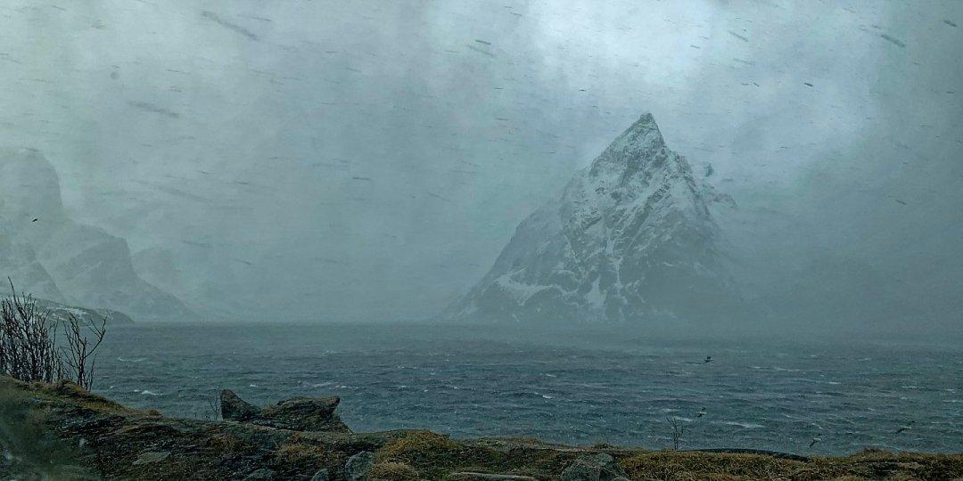 El temporal desde Toppøya