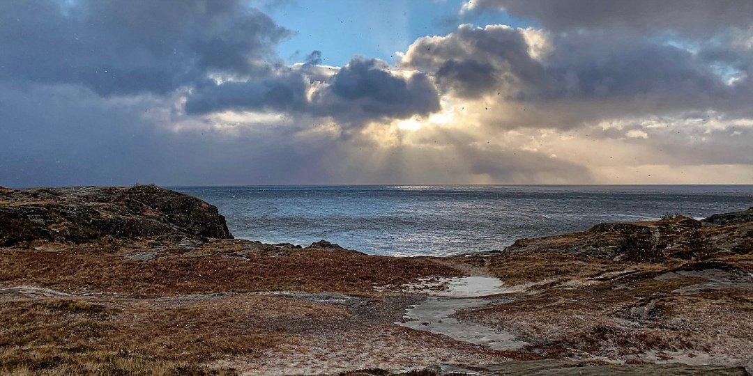 Mar de invierno al sur de Å