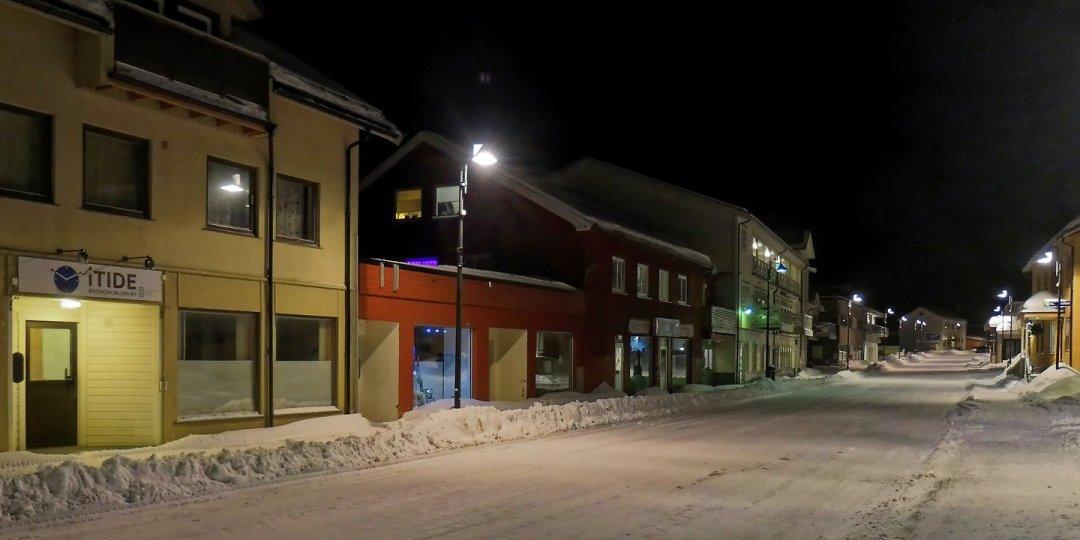 Calles vacías en Skjervøy