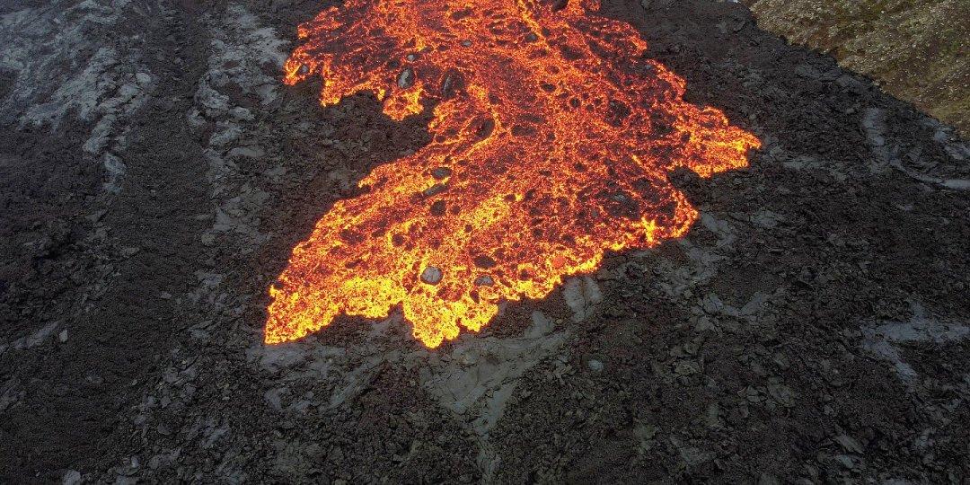 Colada de lava en el valle de Nátthagi