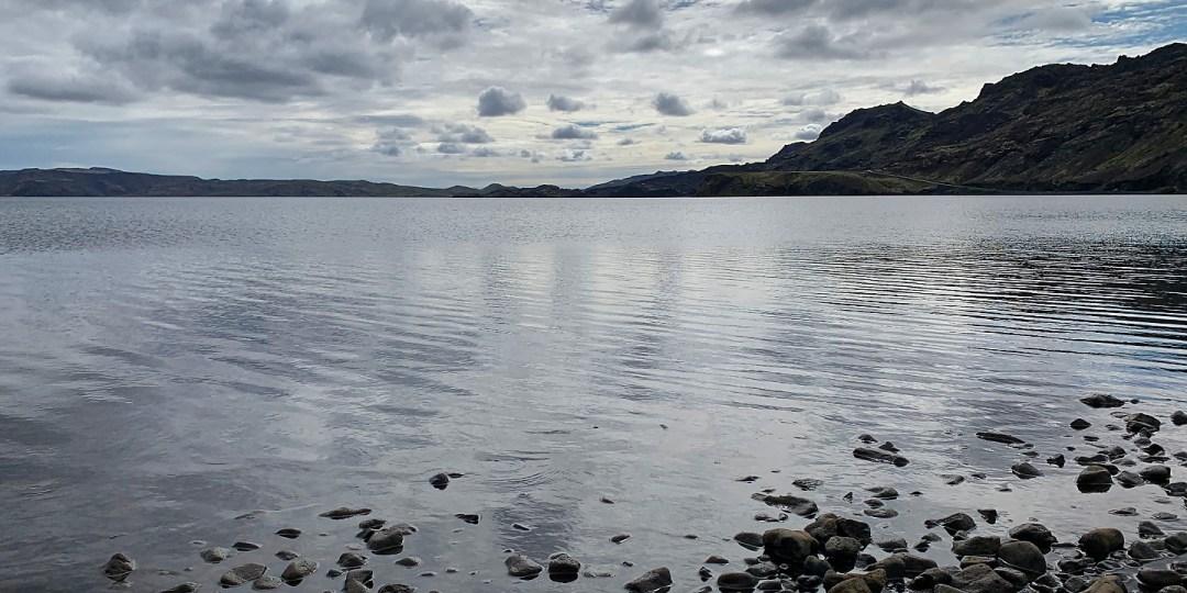 El Kleifarvatn desde su extremo septentrional