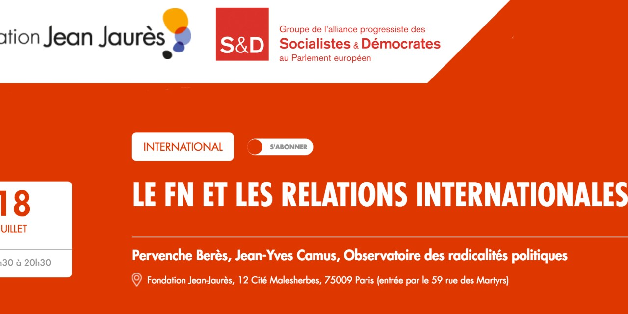 LE FN ET LES RELATIONS INTERNATIONALES