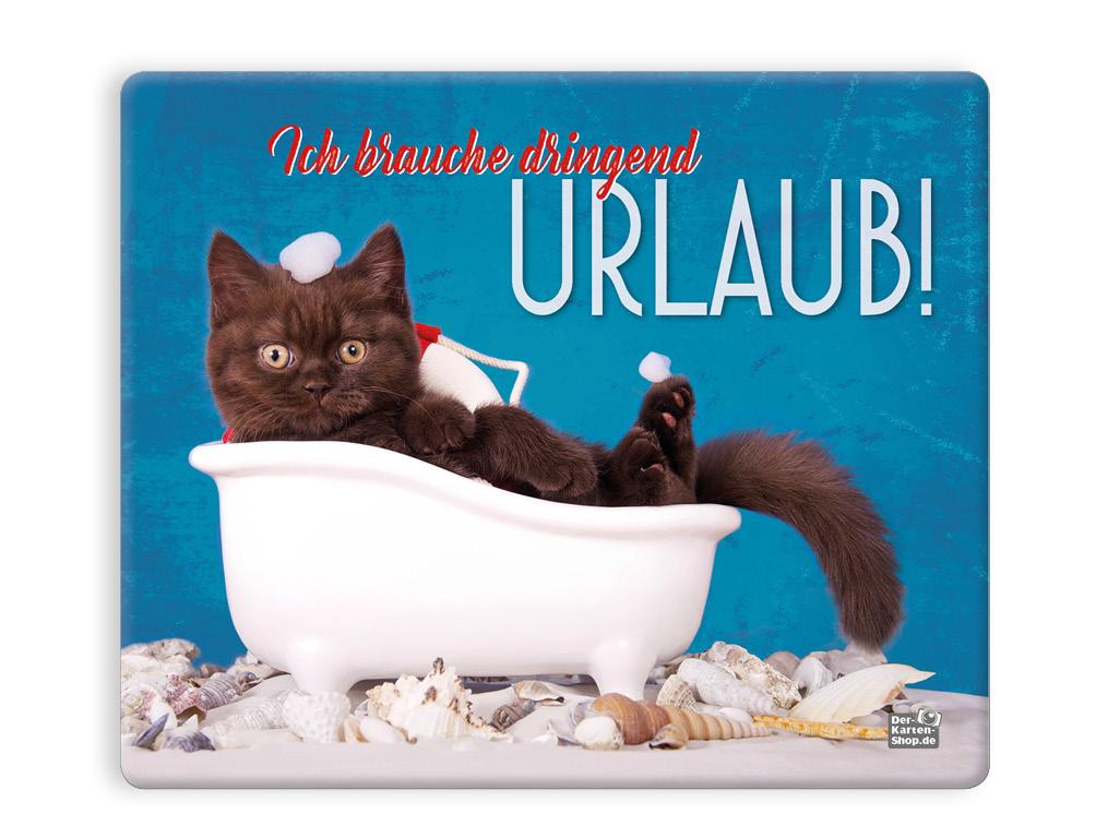 Mauspad Mousepad Katze in Badewanne Ich brauche dringend