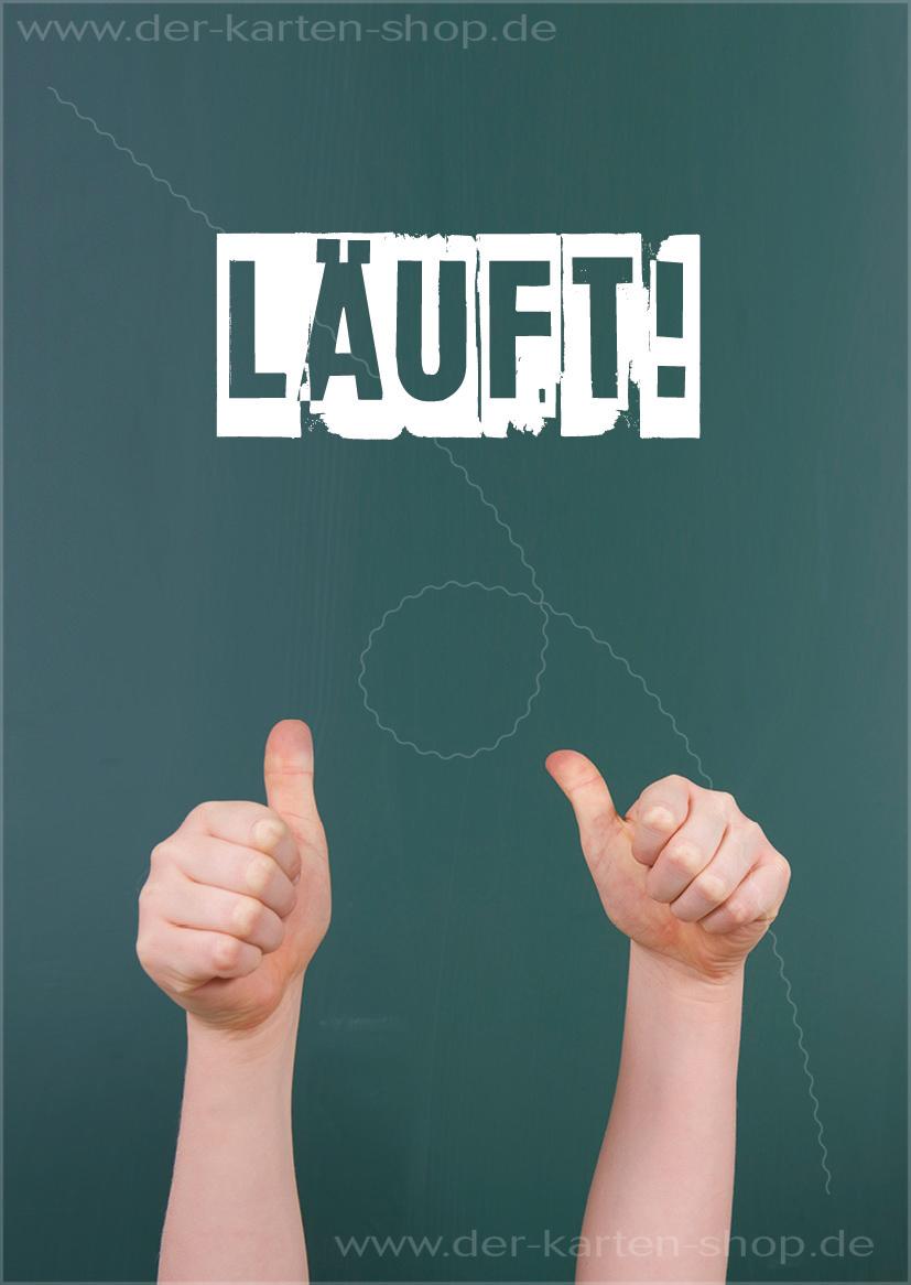 Postkarte Grukarte Motivationskarte Daumen hoch LUFT