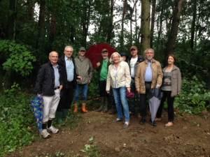 Erstes Treffen der Förderer und Partner auf dem Gelände in Schandelah. Foto: Dr. Scheller Stiftung