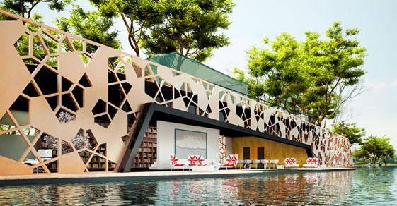 Villa O, floating home