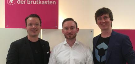 (vlnr.) Berthold Baurek-Karlic (Gründer Venionaire), Klaus Himmer (Gründer CryptoTax) und Florian Wimmer (Gründer Blockpit)