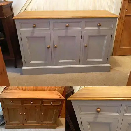 Pine chest or drawers painted and restored