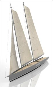 44m Concept Sailboat