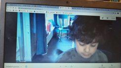 Xavi aan het lezen