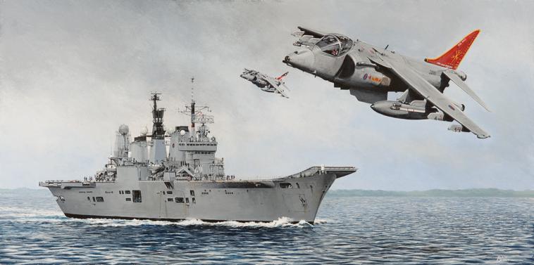 gone but not forgotten hms ark royal and harriers aviation maritime art derek blois