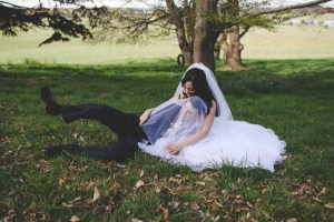 Newlyweds share a cute moment in Bowral