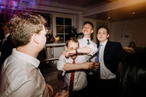 Guests dance at Watsons Bay Boutique Hotel wedding reception