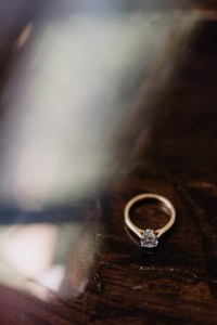 Bride's engagement ring and details at wedding in Bondi