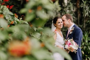 Bride and groom wedding portraits at McKell Park Darling Point