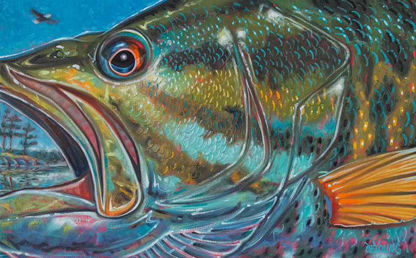 American Paint And Wallpaper Fall River Abstract Fish Face Series Derek Deyoung