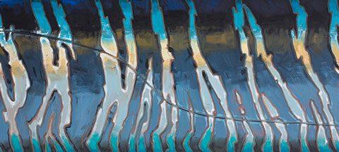 Abstract Wahoo Flank  Stripes  Derek DeYoung