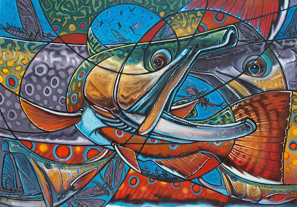 brook trout canvas prints