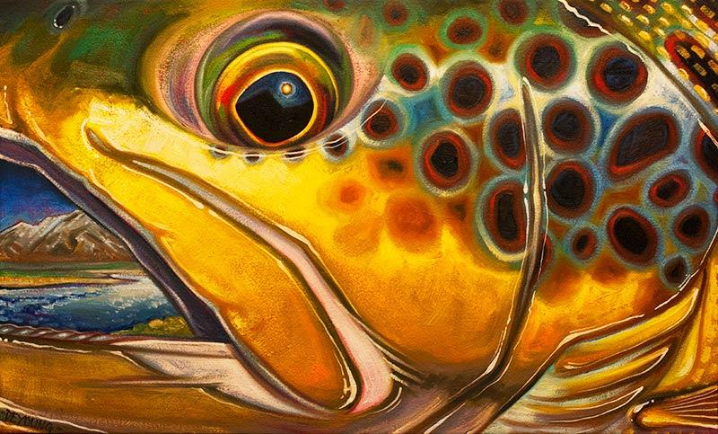 Abstract Fish Face Series  Derek DeYoung