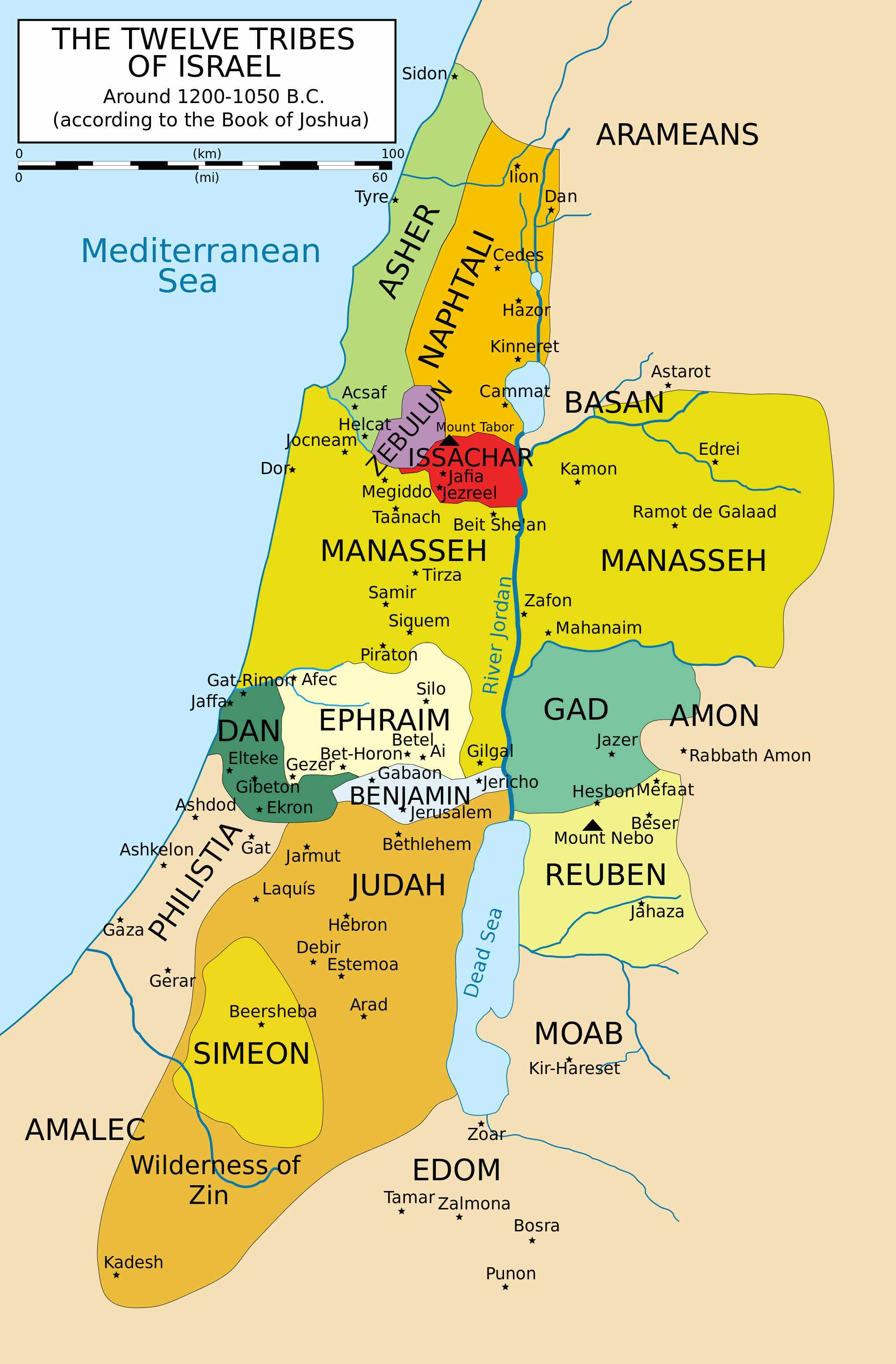 12_Tribes_of_Israel_Map