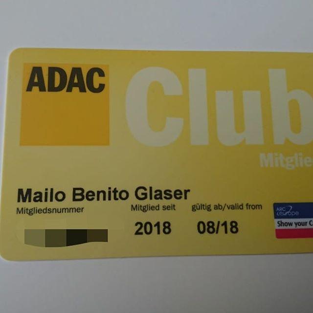 Nun ist auch unser kleiner Sohn Mitglied im ADAC