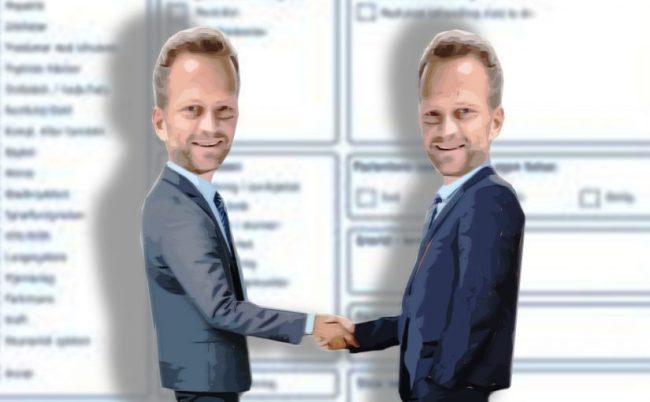 Når en forhandler i offentlig stilling med firma en har egeninteresser i, hva kaller en det?