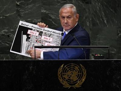 Ifølge Voltairenet er det et nytt våpen Israel har brukt mot et våpenlager til Hesbollah i Beirut