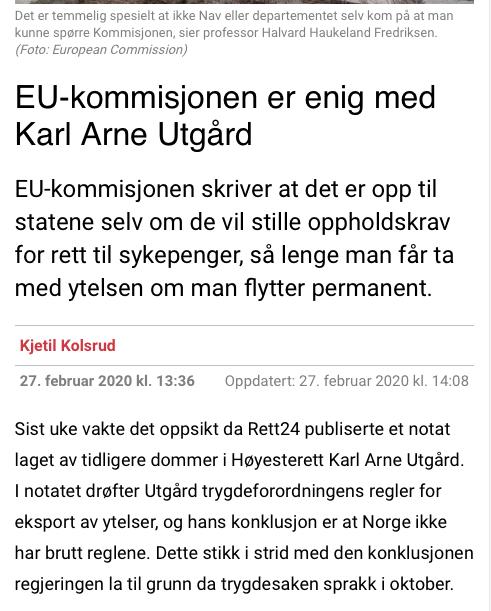 Lydriket Norge kjemper for at Norge ikke skal ha rett til å bestemme vilkår for ytelser. EU-kommisjonen er redd for å få de store statene mot seg om Norge får ønsket sitt oppfylt.