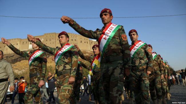 USA finansierer og er en partner til den kurdisk Peshmerga i Irak. Mossad har angivelig en base i de kurdiske områdene i landet.