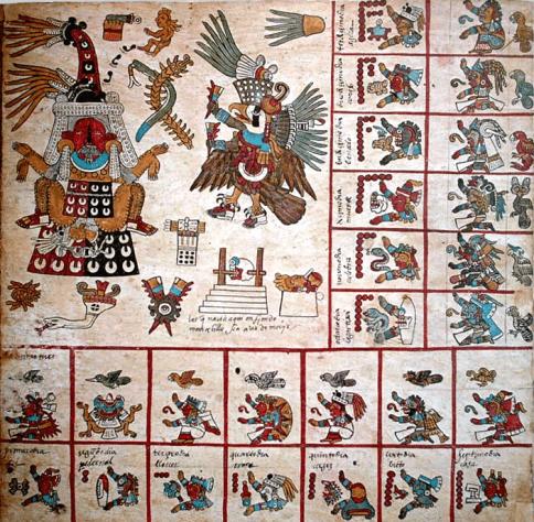 Codex_Borbonicus,_p11_trecena13 sevgisiz bakınca yusuf bile çirkindir. Şeytan'a aşkla bakınca onu melek sanırsın.Sevgisiz bakınca Yusuf bile çirkindir. Şeytan'a aşkla bakınca onu melek sanırsın.