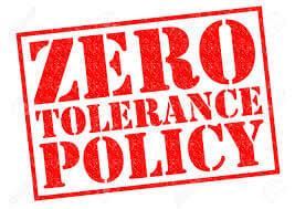 Sıfır tolerans / Zero tolerance / عدم التسامح
