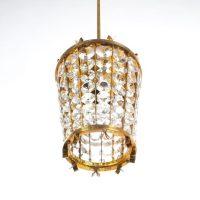 Bakalowits Sohne Lantern Pendant Lamp from Brass Crystal ...
