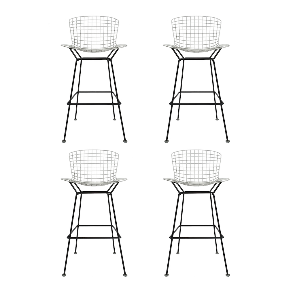 4 Vintage Harry Bertoia Bar Stools