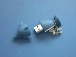 Datenträger in Delfin-Form (Foto: Susanne Gugeler)