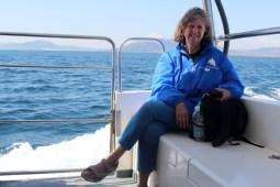 Mit Susanne auf dem Schiff (Foto: Rüdiger Hengl)