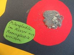 Im Mörser zerkleinertes Plastik (Foto: Ina Krüger)