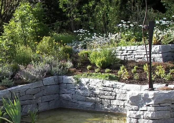Gartengestaltung Garten Anlegen Galabau Hangbefestigung Hangmauern Terrassierung L
