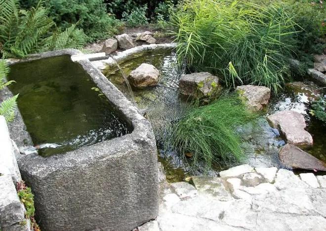 Ein kleiner Wassergarten  Ein geheimer Garten mit