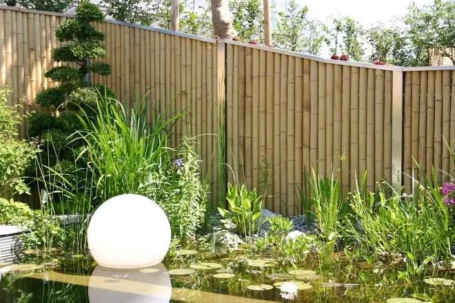 Bambus Zaunelemente Moderner Sichtschutz