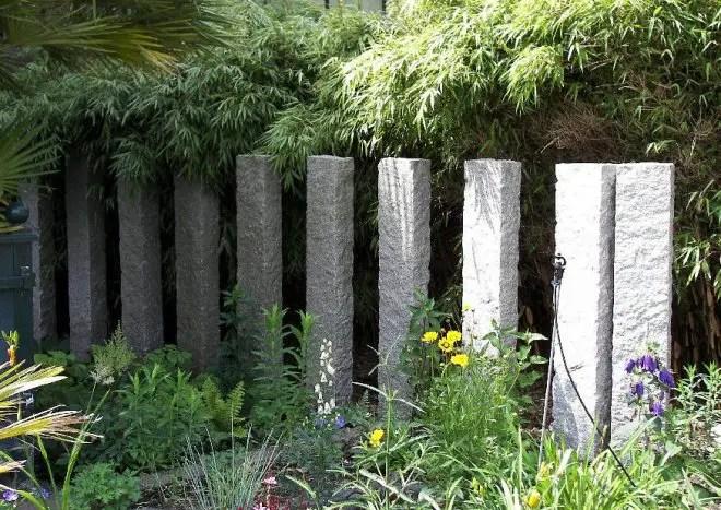 Natursteinpalisaden Als Sichtschutz