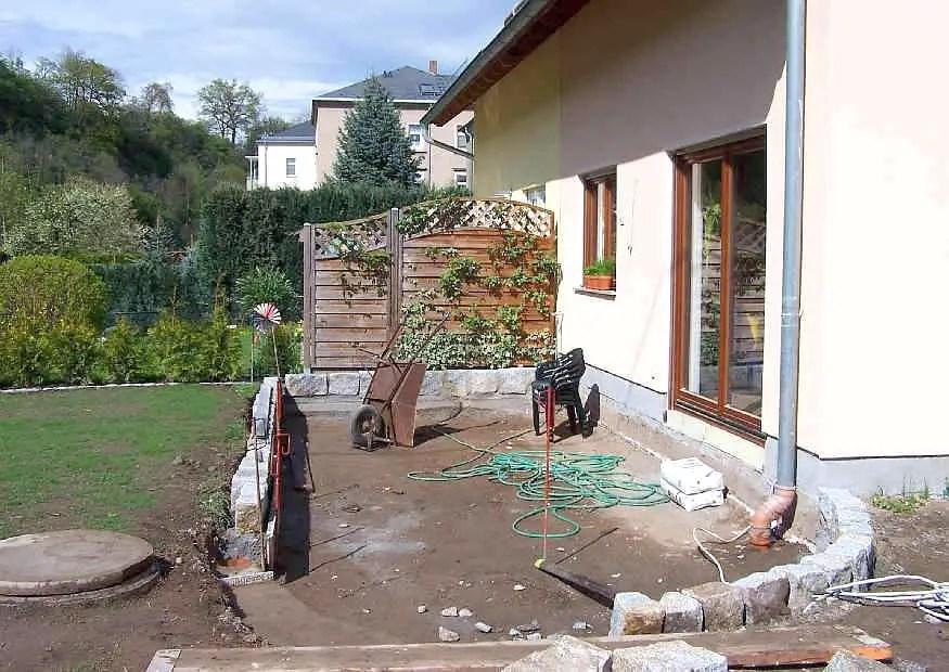 Terrassenumrandung Wie Gestalten? Einfassung Oder Mauer?