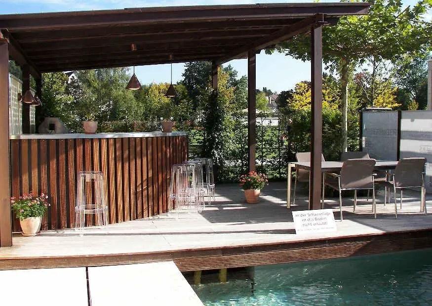Idee Gartenkche unterm Terrassendach