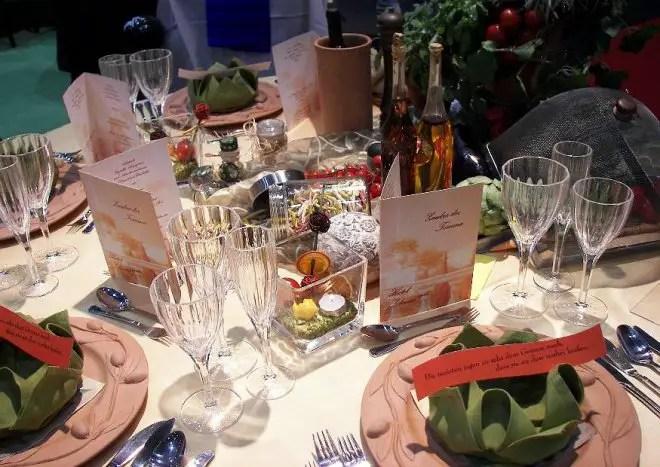 Tischdekoration Festtafel gestalten  fr Hochzeiten Geburtstag Jubilum