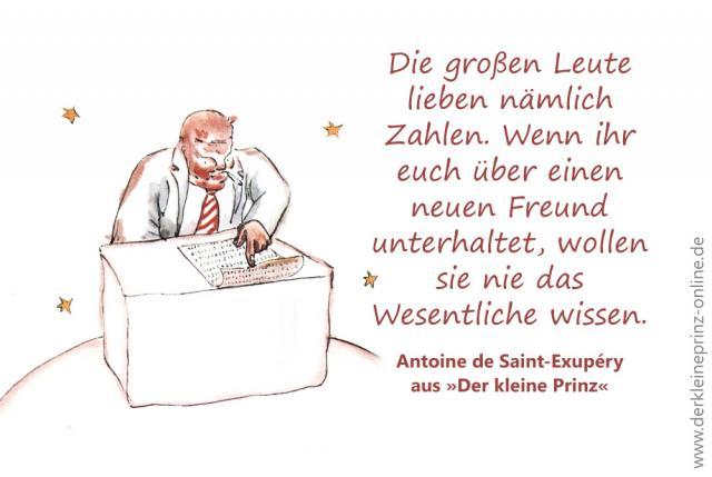 Zitat Von Antoine De Saint Exupery Grosen Leute Lieben Namlich Zahlen Zitat Aus