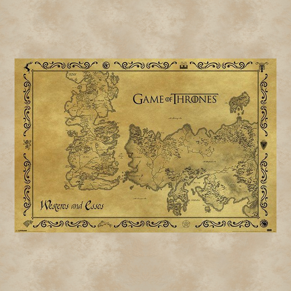 antique map maxi poster game of thrones
